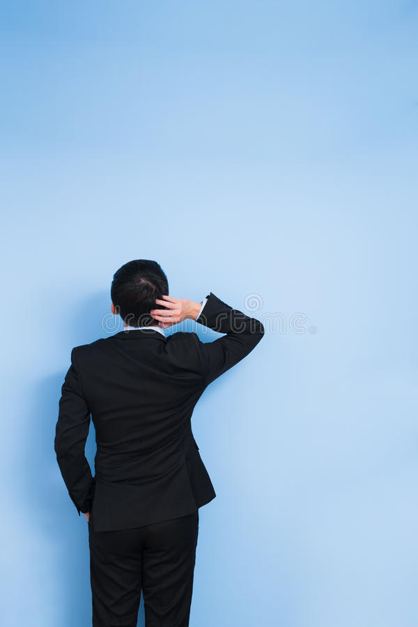 Businessman feel confuse stock images