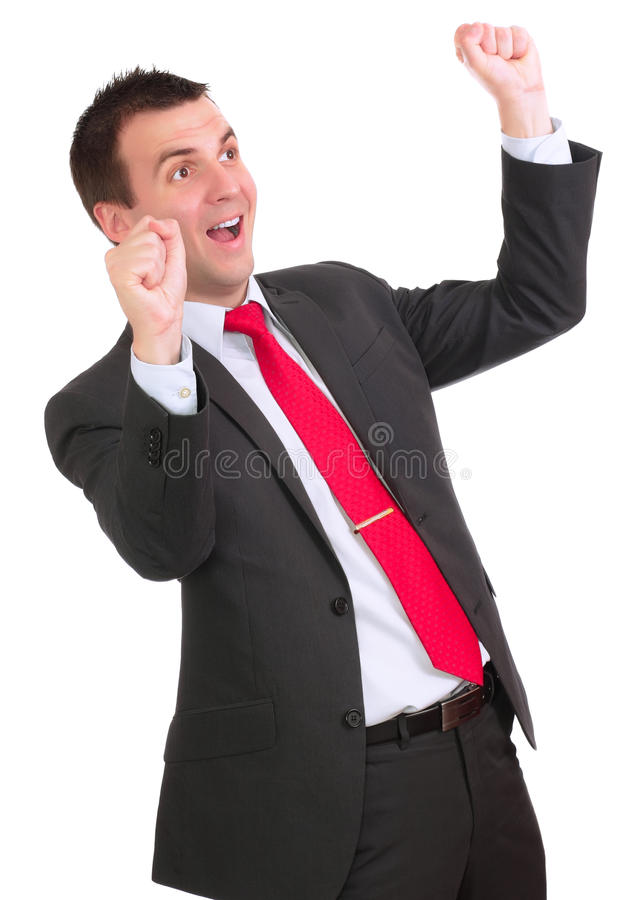 Download Businessman-feeling A Great Happy . Isolated Stock Image - Image: 22705297