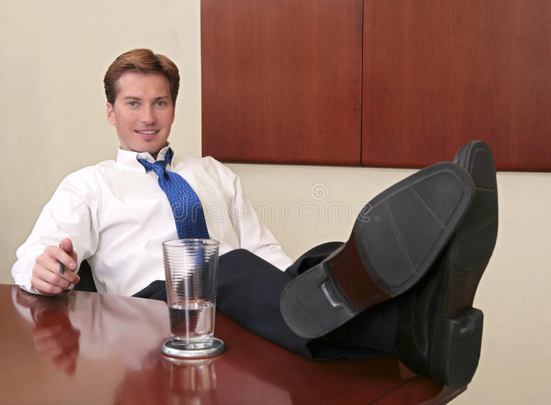 Download Businessman with feet up stock photo. Image of body, hand - 13324160
