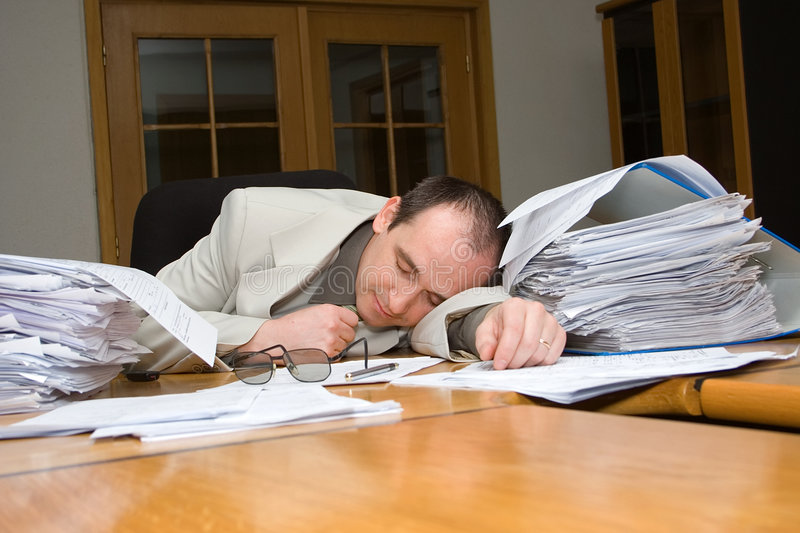 Download Businessman felt asleep stock image. Image of office, weary - 2193323