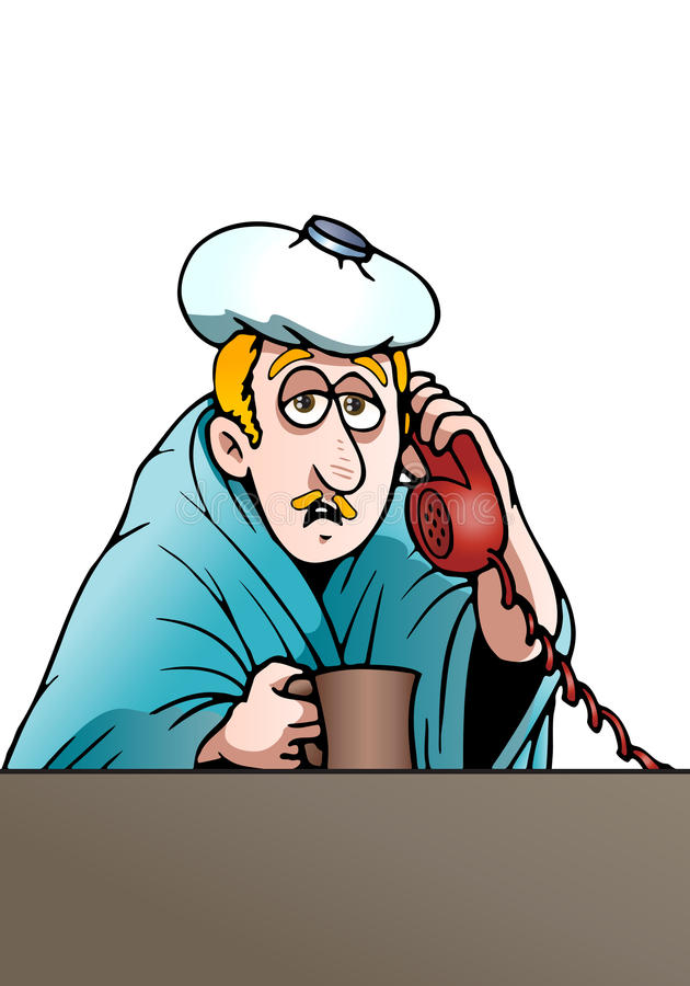 Download Businessman  with Fever stock illustration. Illustration of male - 22234056
