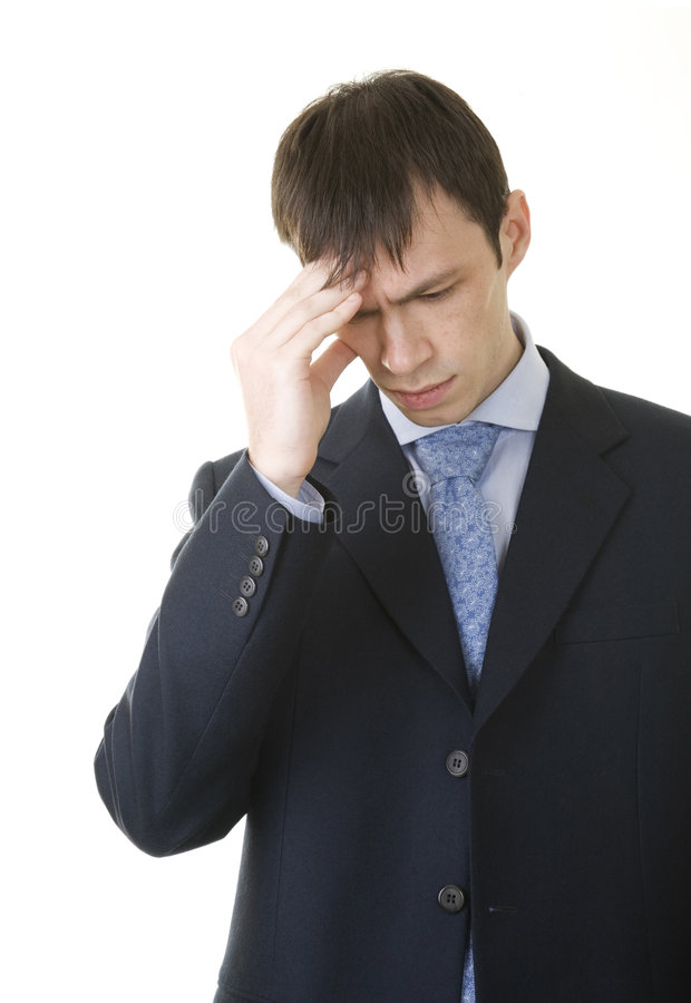 Businessman finding solution stock photography