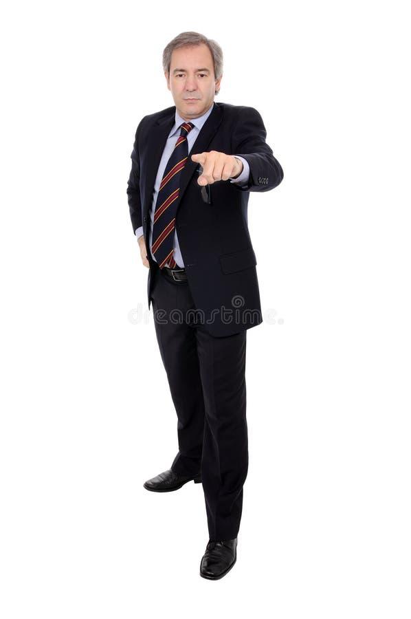 businessman finger his pointing στοκ εικόνες