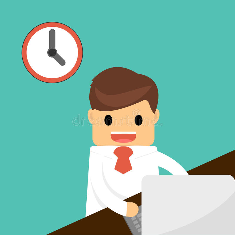 Businessman finish working . Business concept . stock photography