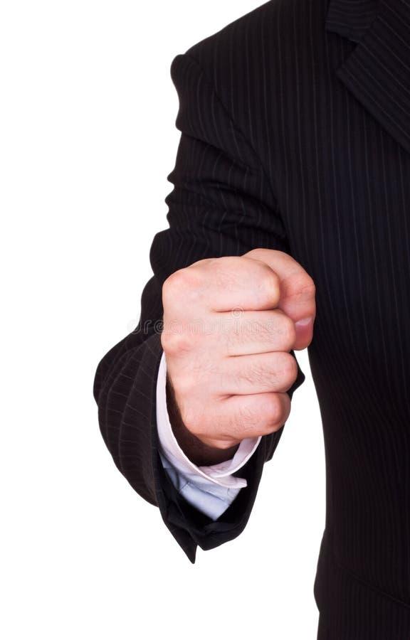 Businessman fist stock photos