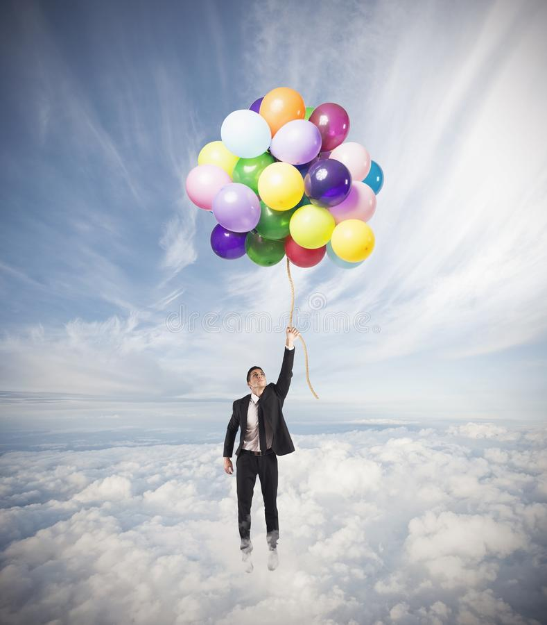 Free Businessman Flying High Stock Images - 32504884