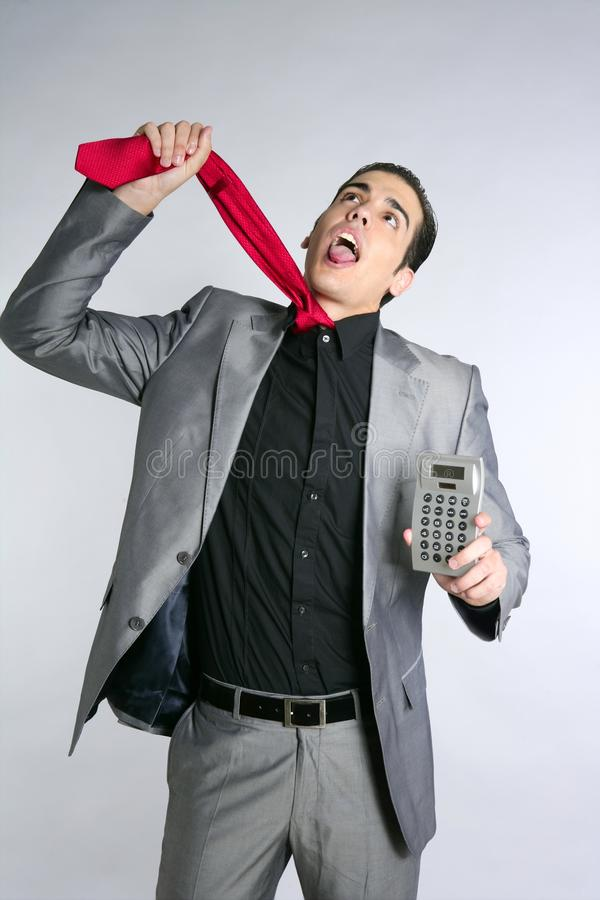Businessman formal suit bad news reports stock photos