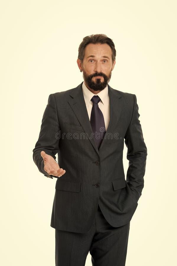 Businessman formal suit mature man  white. Businessman bearded handsome entrepreneur. Successful businessman. Concept. Customer service tips improve business stock photos