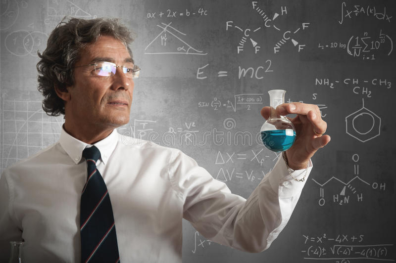 Download Businessman And Formula For The Success Stock Photo - Image of math, medical: 25526254