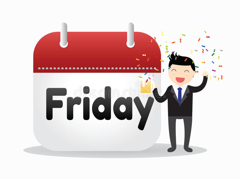 Businessman Friday Concept royalty free stock images