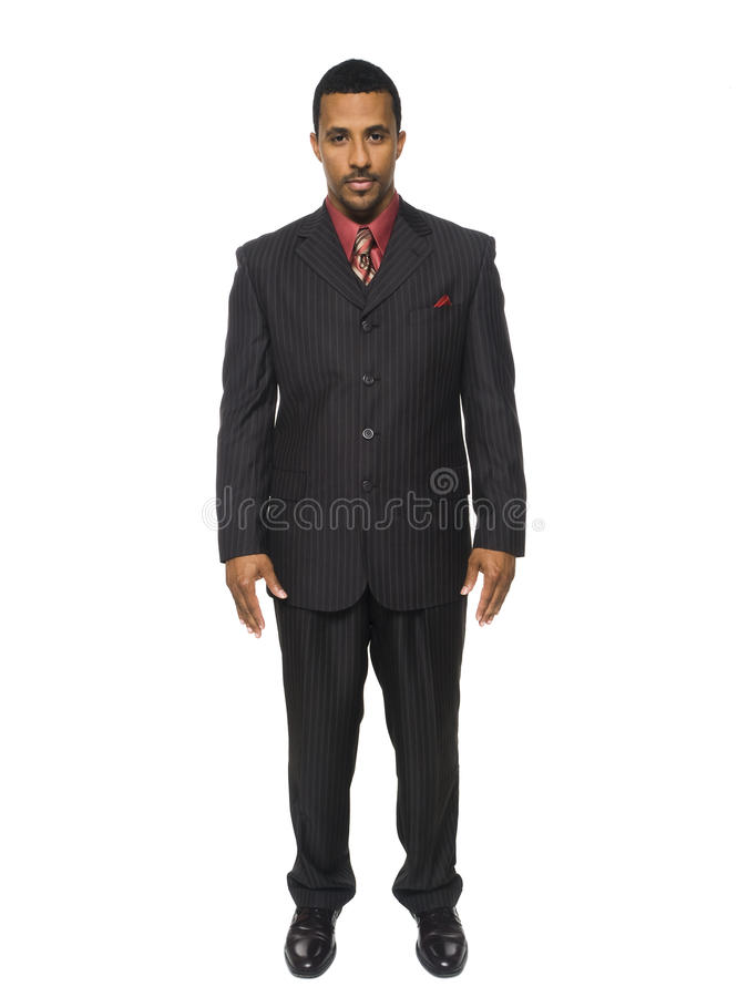 Businessman - full confidence royalty free stock photography