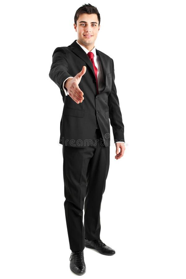 Businessman Full Length Handshake Royalty Free Stock Photo