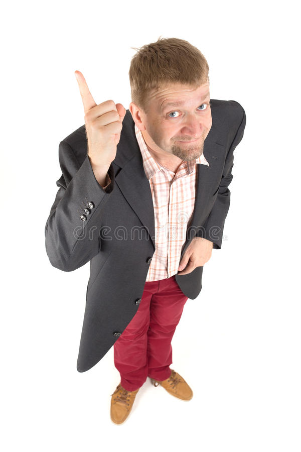 Businessman with funny view royalty free stock images