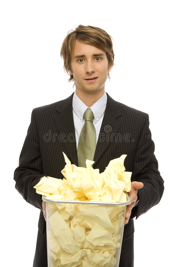 Download Businessman with garbage stock photo. Image of leadership - 2386126
