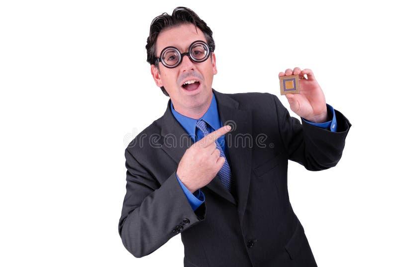 Businessman geek stock photos