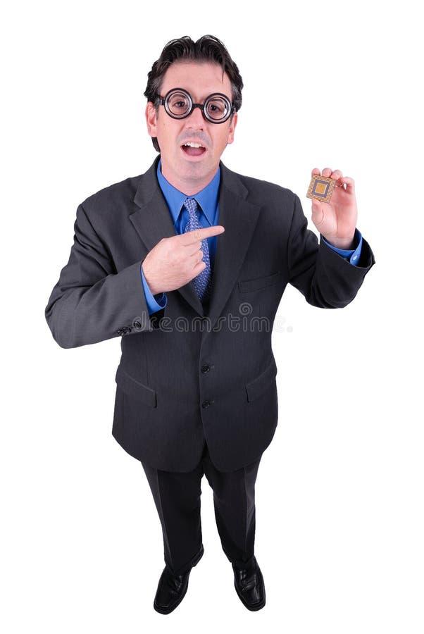 Businessman geek stock image