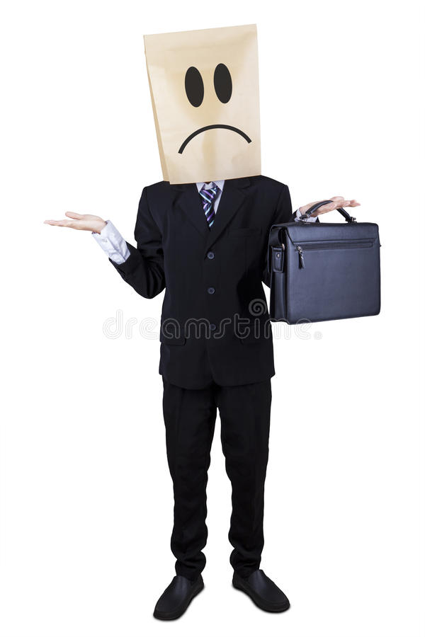 Businessman gesturing confuse isolated 1 stock photos