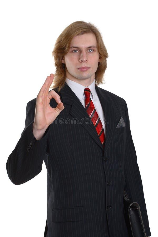 Download Businessman gesturing okay stock image. Image of businessperson - 4192855