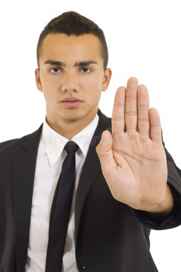 Download Businessman gesturing stop stock photo. Image of passing - 11619664