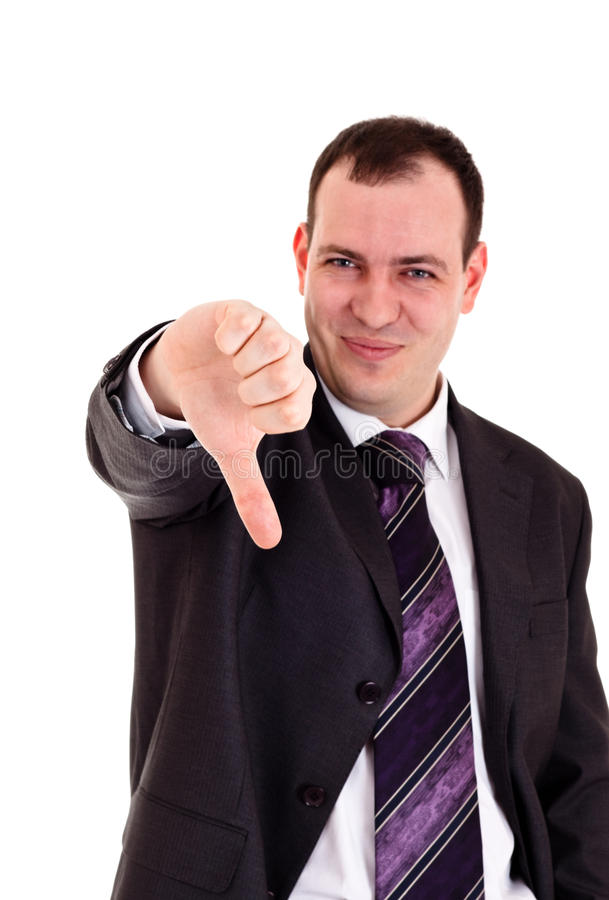 Download Businessman Gesturing Thumbs Down Stock Image - Image: 13063331
