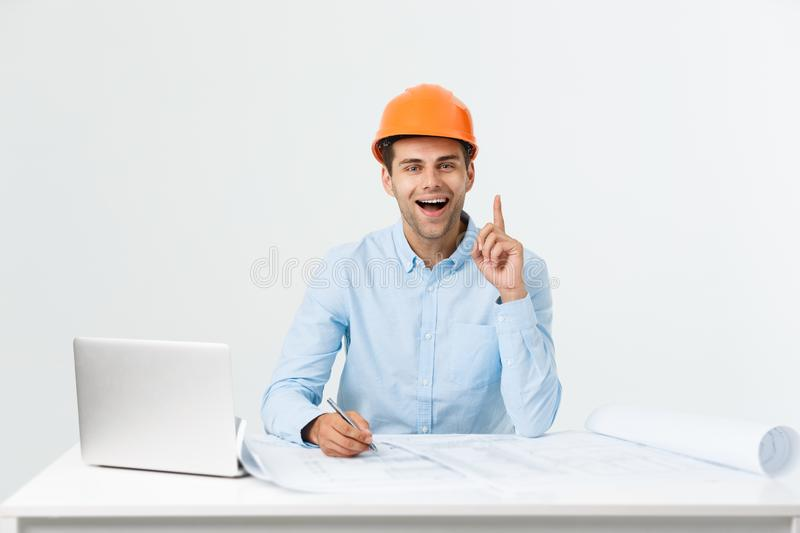 Businessman get about idea and creative, How to success and improving royalty free stock photos