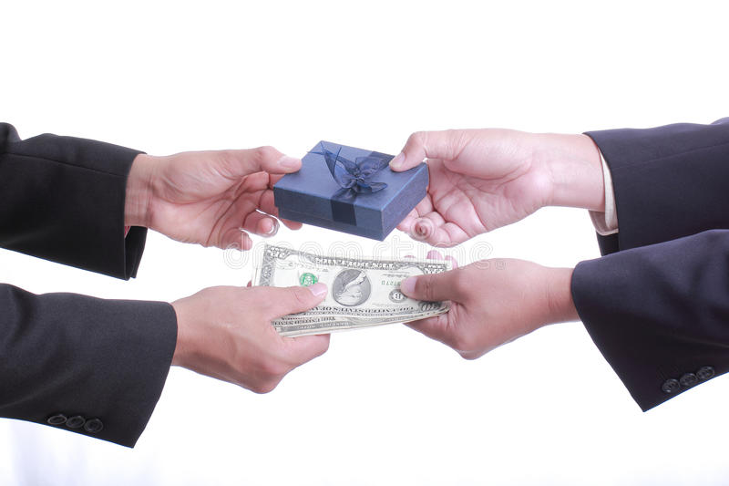 Download Businessman Give Gift For Good Relationship Stock Image - Image: 32692191