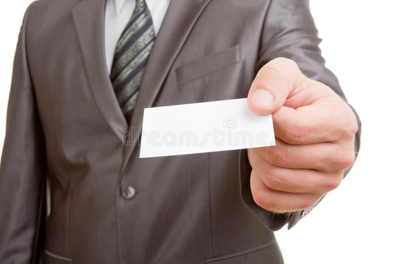 Download Businessman Giving Blank Card Stock Photo - Image: 18943370