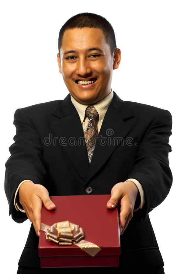 Download Businessman Giving Present stock image. Image of holidays - 13304431