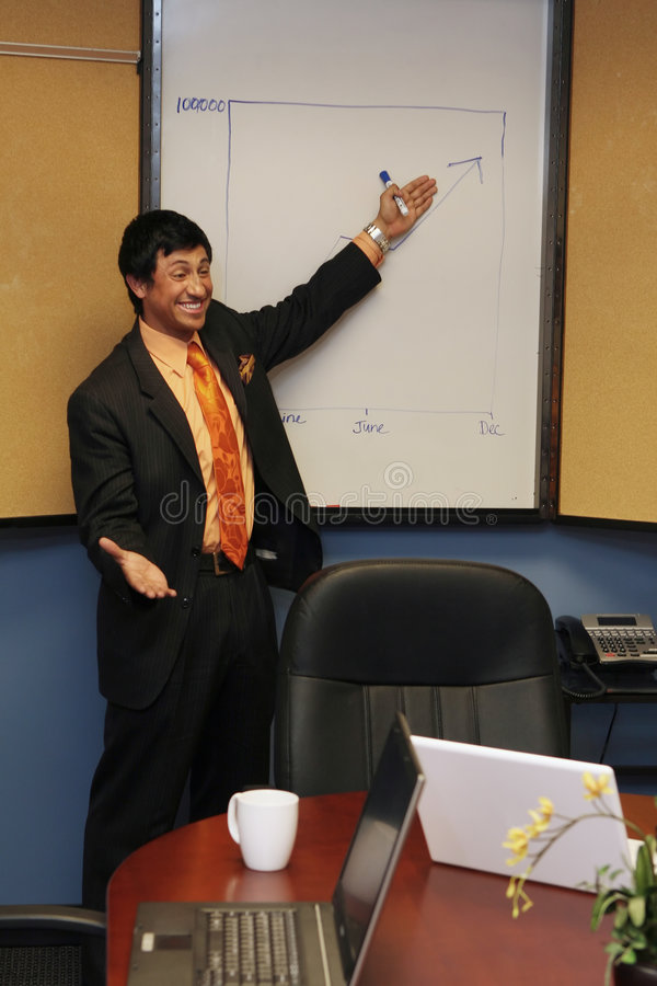 Download Businessman Giving A Presentation Stock Photo - Image: 5124666