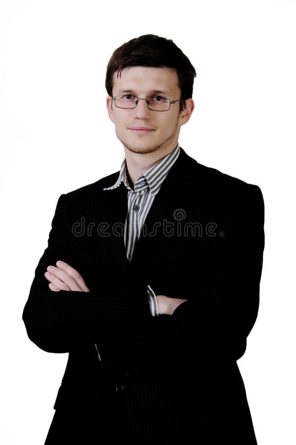 Businessman with glasses royalty free stock image
