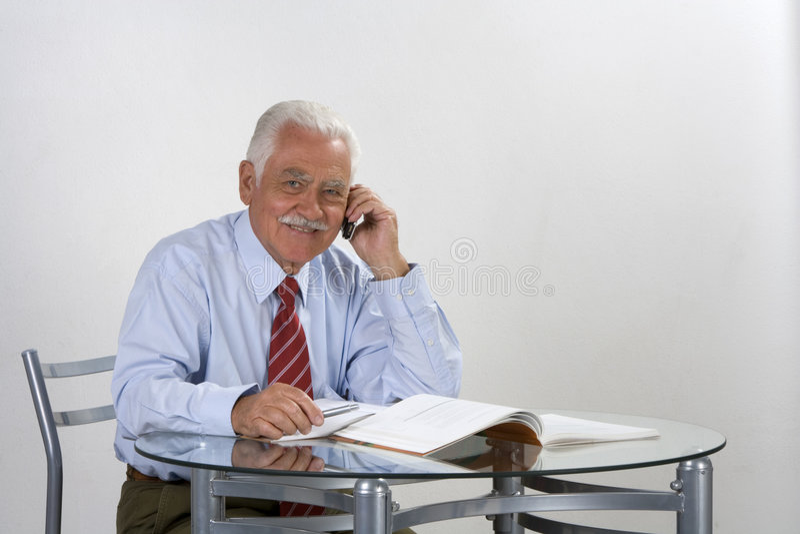 Businessman grandfather royalty free stock photo