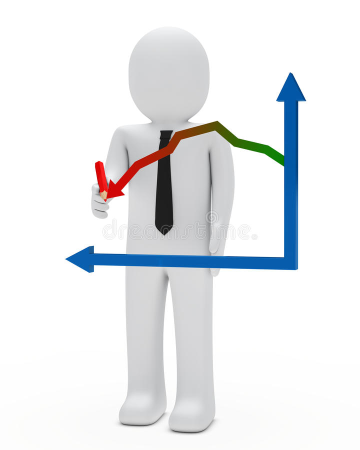 Businessman graph royalty free illustration