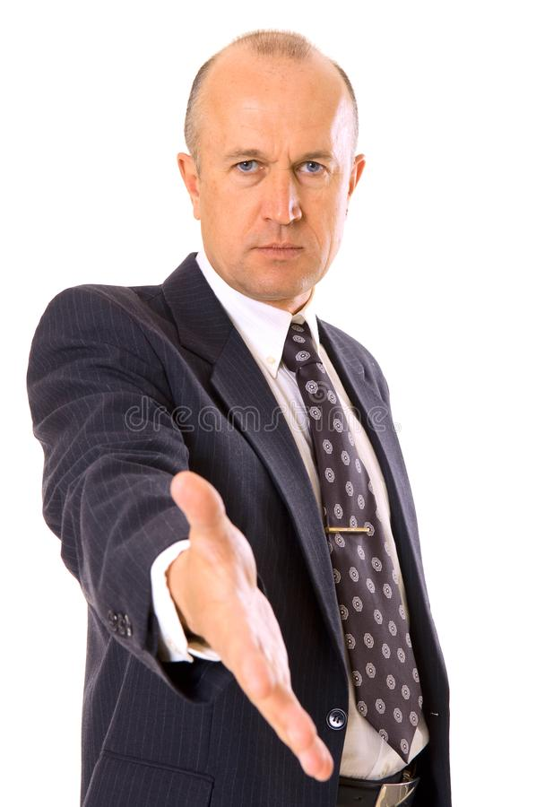 Businessman Greeting You Stock Images