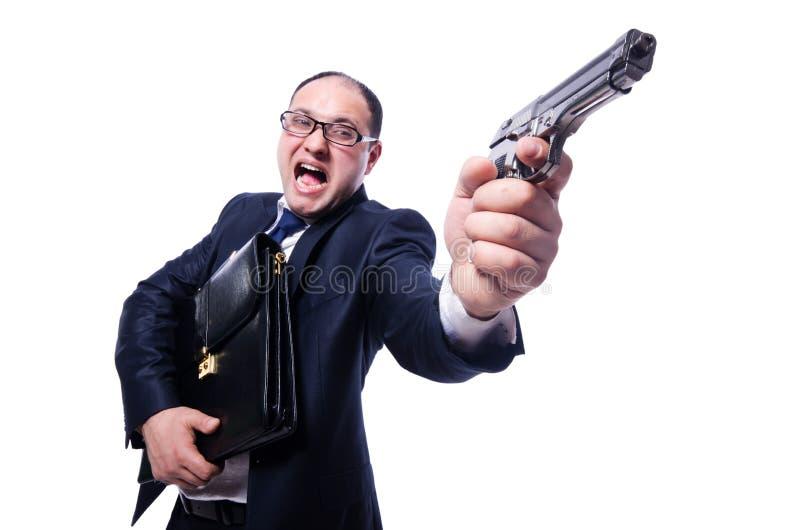 Download Businessman with gun stock photo. Image of handgun, humor - 30661962