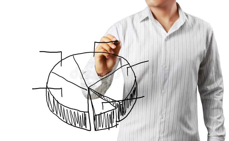 Download Businessman Hand Drawing A Graph Stock Photo - Image: 24872692