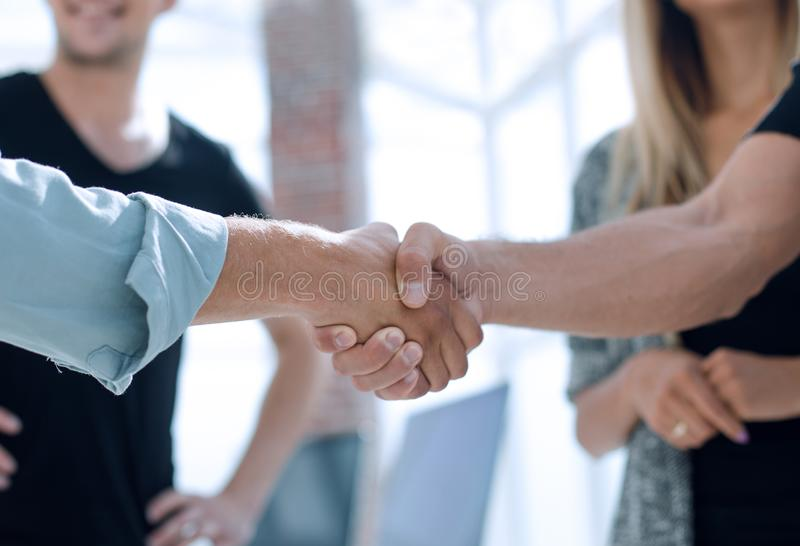 The businessman. Hand for a handshake. The conclusion of the transaction. stock photos