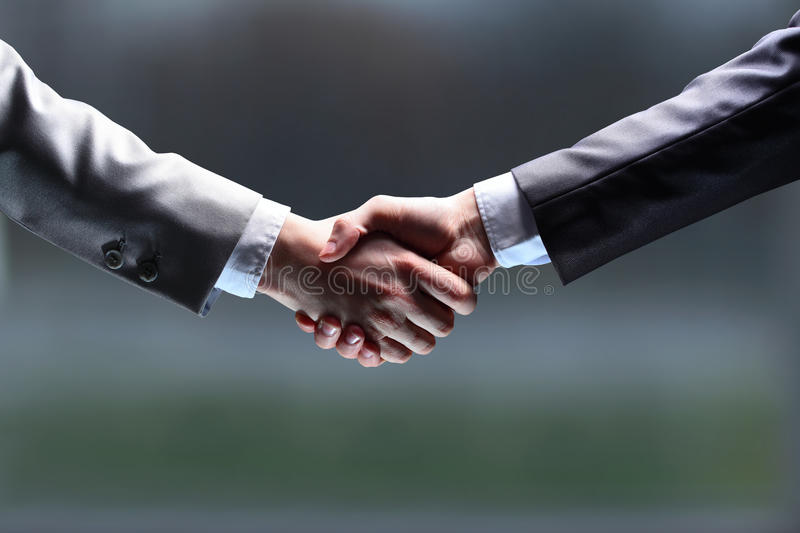 The businessman. Hand for a handshake. royalty free stock image