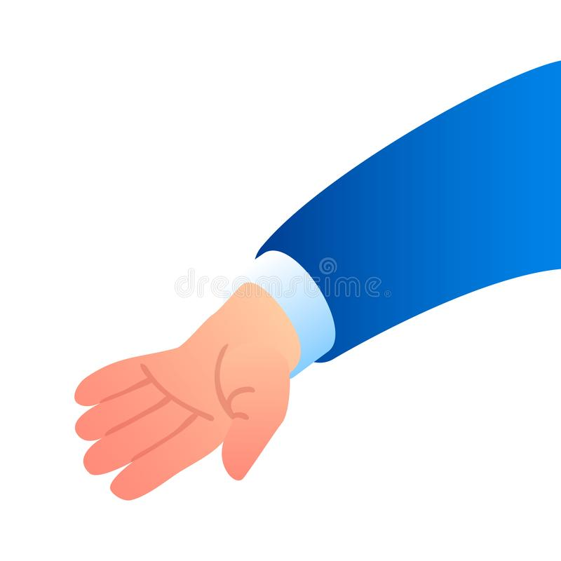 Businessman hand icon, isometric style. Businessman hand icon. Isometric of businessman hand vector icon for web design isolated on white background stock illustration