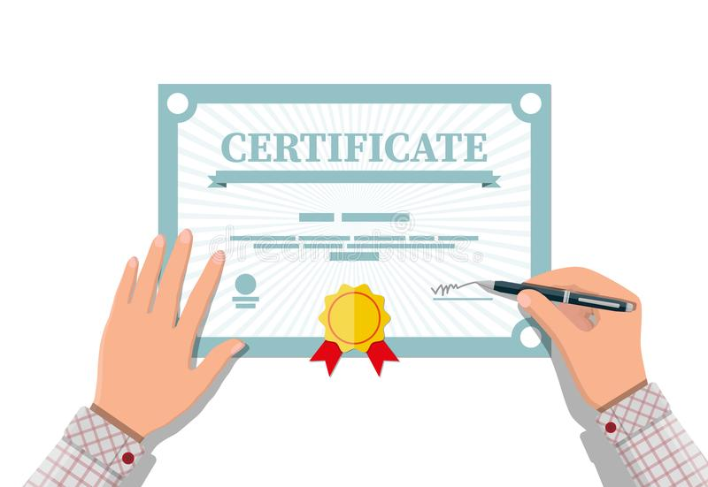 Certificate template diploma or accreditation stock vector download certificate template diploma or accreditation stock vector illustration of award experience yadclub Image collections