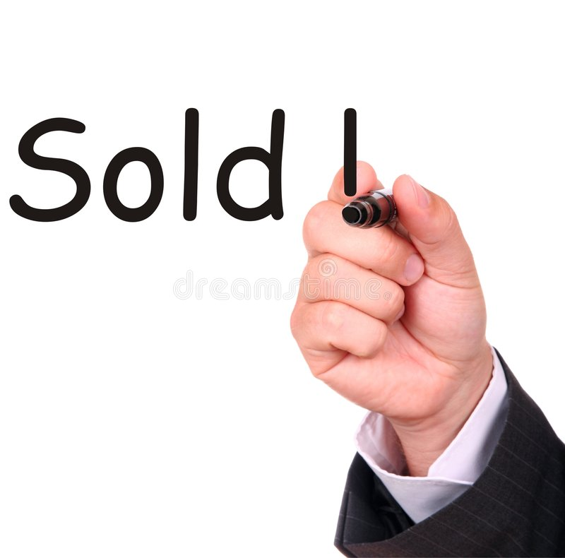 Businessman hand and sold stock photo