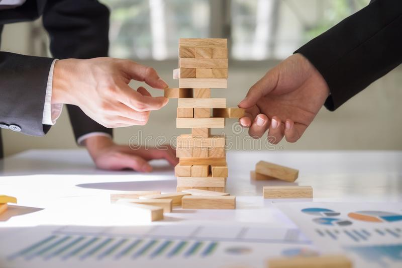 Business risk strategy and planing concept idea. stock images