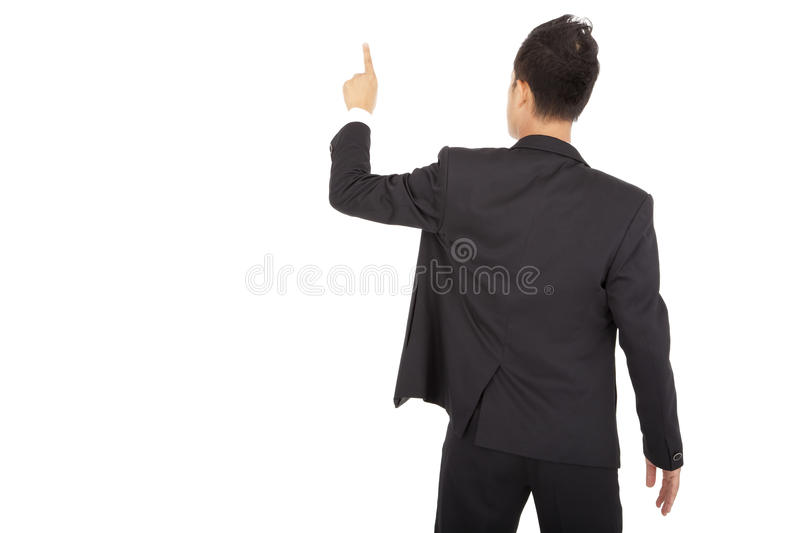Download Businessman Hand Touch Space Stock Image - Image: 21442909