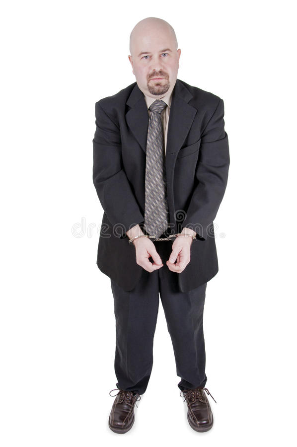 Businessman in handcuffs 5 royalty free stock photos