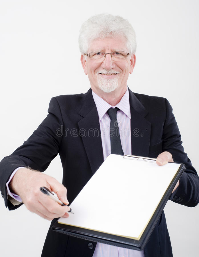 Download Businessman Handing Contract Stock Image - Image of human, background: 10338439