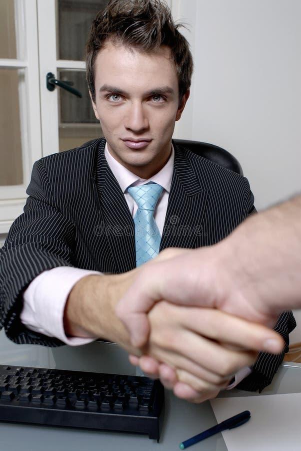 Businessman Handshake Royalty Free Stock Photos