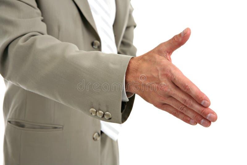Businessman Handshake Closeup stock images