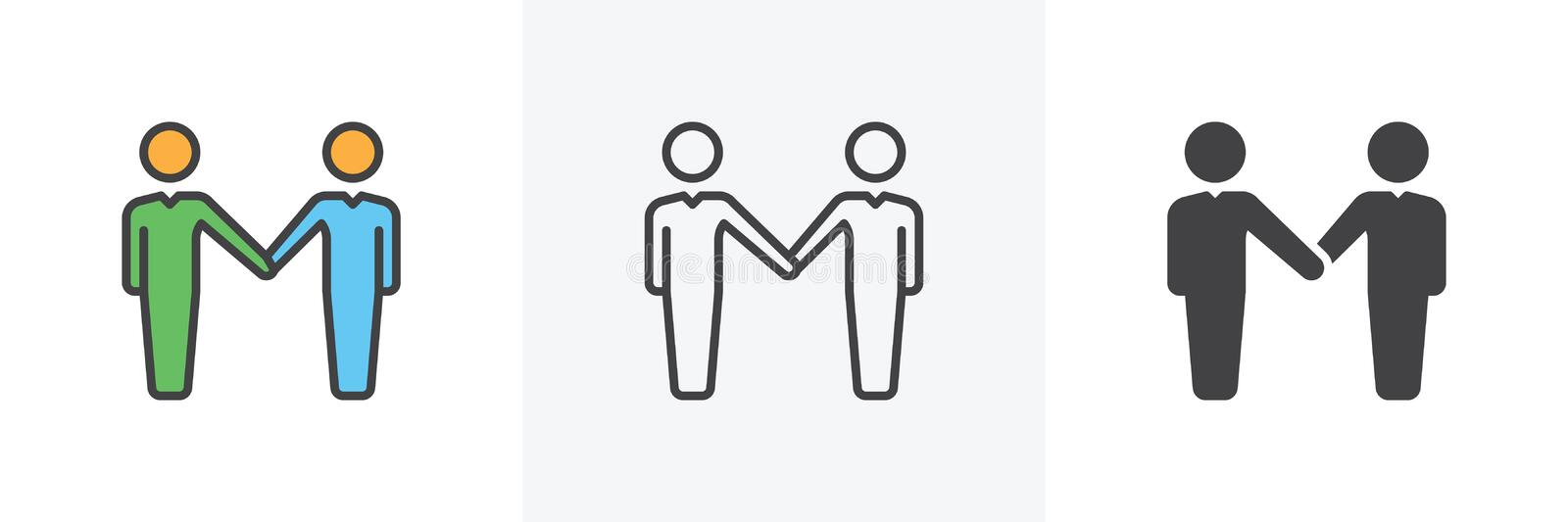 Businessman Handshake icon vector illustration