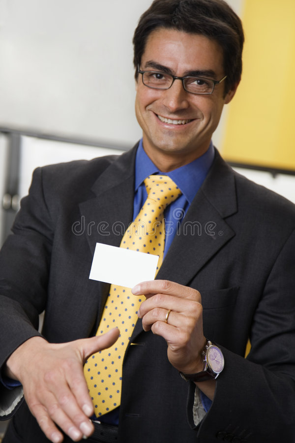 Businessman Handshaking Royalty Free Stock Photos
