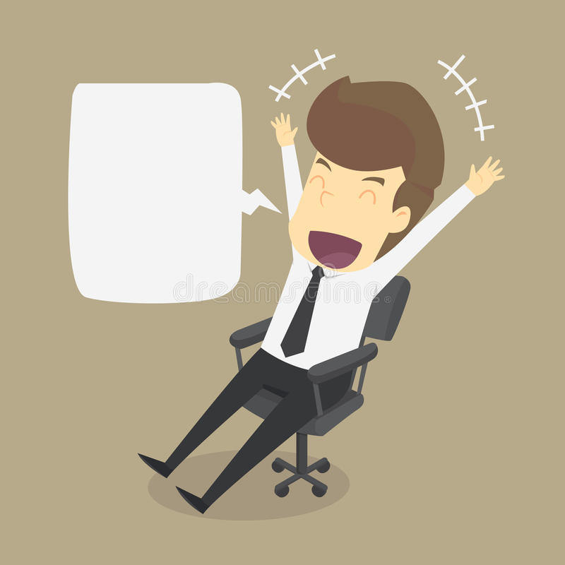 Businessman is happy with the work vector illustration