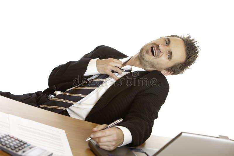 Businessman has stress at job royalty free stock image